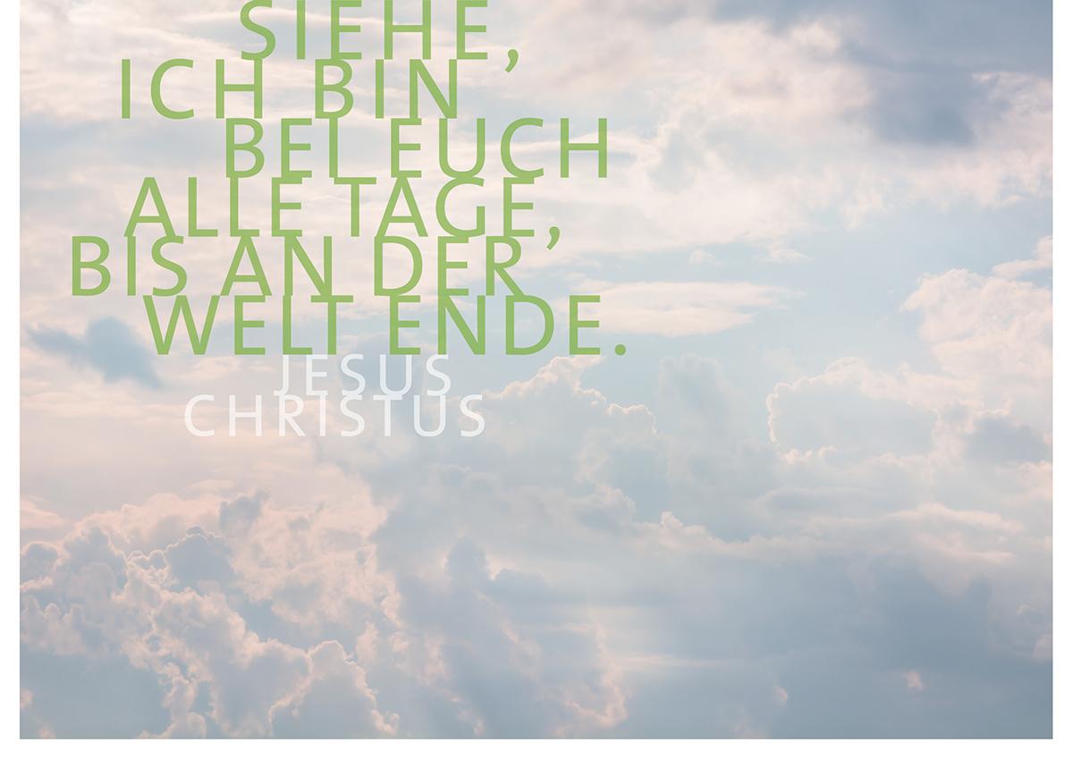 Himmel und Bibelvers